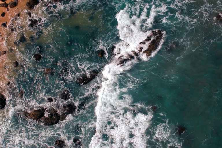 top view photo of ocean