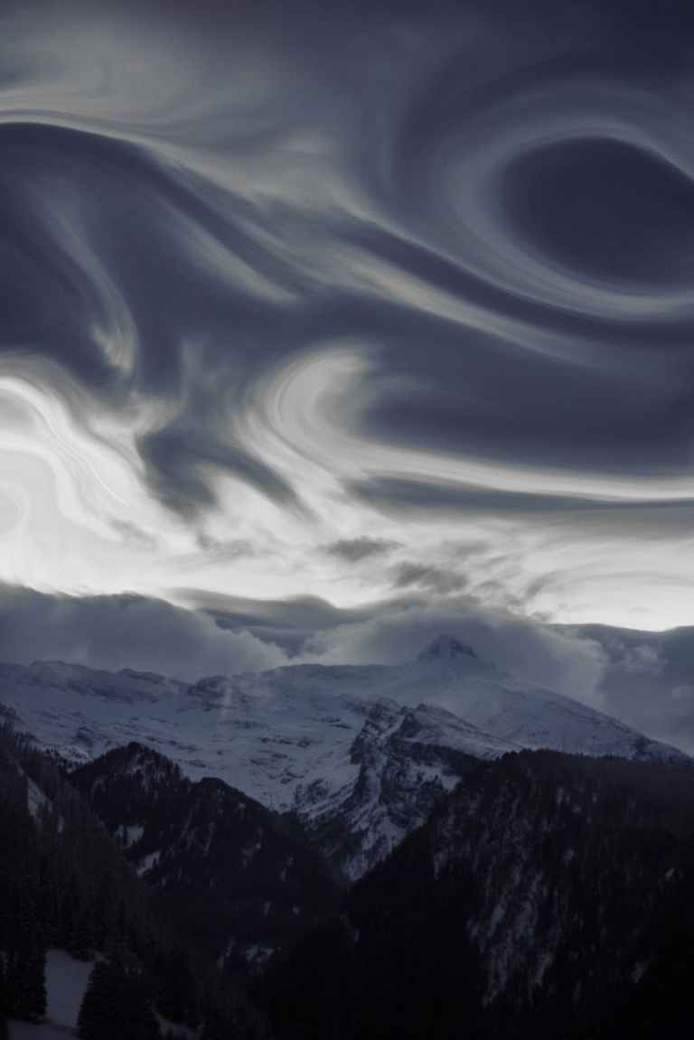 timelapse photography of clouds