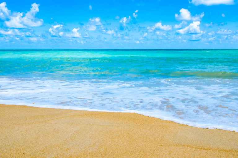 beach beautiful blue sky blue water
